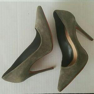 Schutz Green Suede Heels Size 6.5